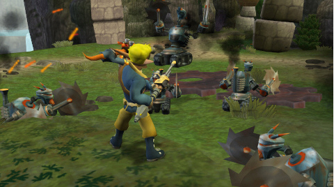 screenshots of Jak and Daxter: The Lost Frontier